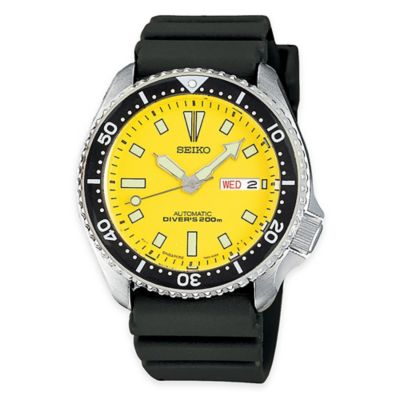 Stainless Steel with Yellow Dial