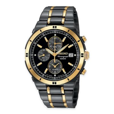 Seiko Men's 39mm Alarm Chronograph Watch in Two-Tone Stainless Steel