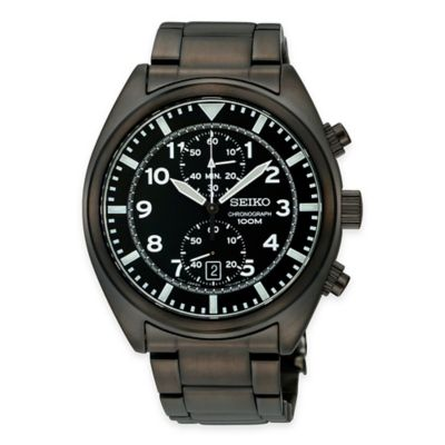 Seiko Men's 43mm Chronograph Watch Men's Watches