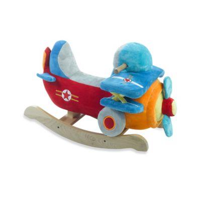 Rockabye™ Bi-Plane Airplane Musical Rocker