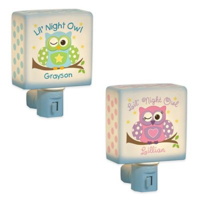 """Lil Night Owl"" Nightlight for Boys"