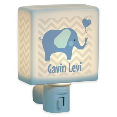 Elephant Nightlight in Blue