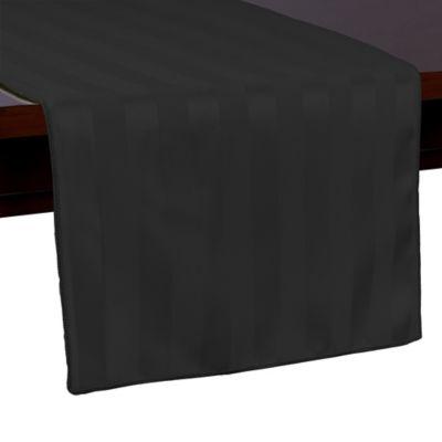 Poly Stripe 54-Inch Table Runner in Black