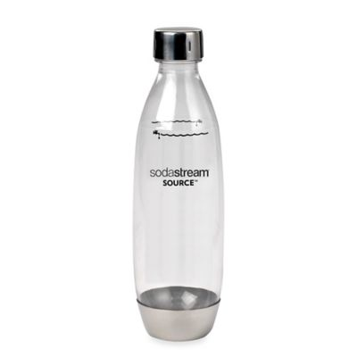 SodaStream® 1-Liter Carbonating Water Bottle with Metal Accent