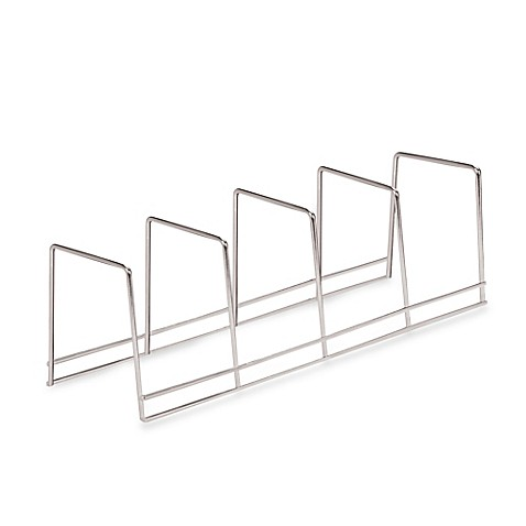 Better Houseware 4-Section Plate Rack in Chrome