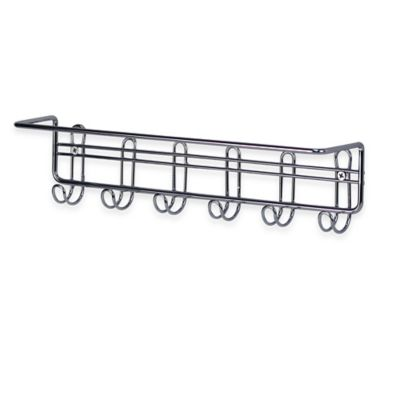 Spectrum™ Contempo 6-Hook Wall-Mount Organizer Bar in Chrome