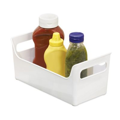 InterDesign® Fridge Binz™ 5.5-Inch x 11-Inch Portable Condiment Caddy in White