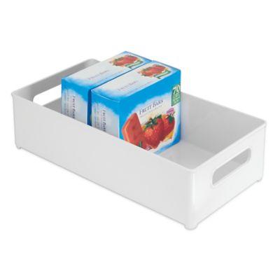 InterDesign® Fridge Binz™ 8-Inch x 14-Inch Freezer Storage Bin in Whte