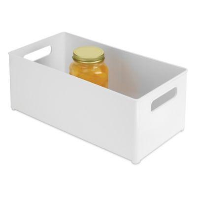 InterDesign® Fridge Binz™ 8-Inch x 14-Inch Deep Storage Bin in White