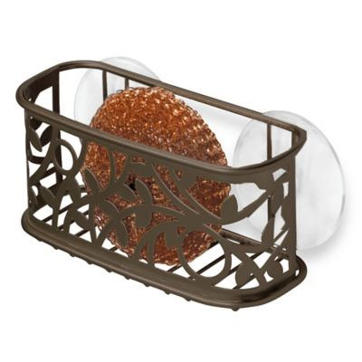 InterDesign® Vine Kitchen Sink Suction Sponge Holder in Bronze