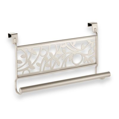 InterDesign® Vine Over the Cabinet Kitchen Dish Towel Bar in Satrin