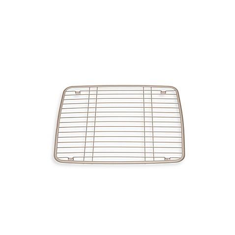 interdesign 174 kitchen sink protector grid mat in satin