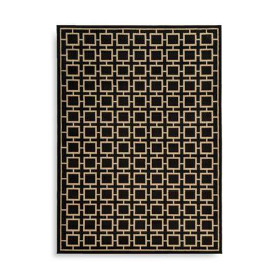 Oriental Weavers Ella Squares 5-Foot 3-Inch x 7-Foot 3-Inch Area Rug in Black