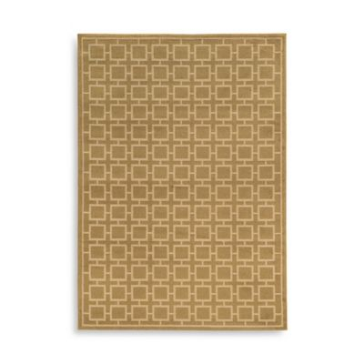 Oriental Weavers Ella Squares 5-Foot 3-Inch x 7-Foot 3-Inch Area Rug in Gold