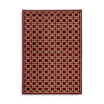 Oriental Weavers Ella Squares 7-Foot 10-Inch x 10-Foot Area Rug in Red