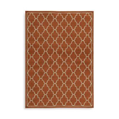 Oriental Weavers Ella Trellis 5-Foot 3-Inch x 7-Foot 3-Inch Area Rug in Brown