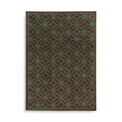 Oriental Weavers Ella Geometric Circles 5-Foot 3-Inch x 7-Foot 3-Inch Area Rug in Brown