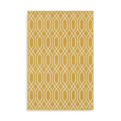 Oriental Weavers Hampton Geometric 7-Foot 10-Inch x 10-Foot Area Rug in Gold