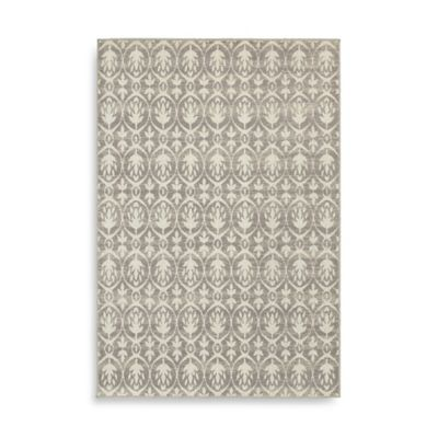 Oriental Weavers Hampton Floral Geometric 7-Foot 10-Inch x 10-Foot Floral Rug in Grey