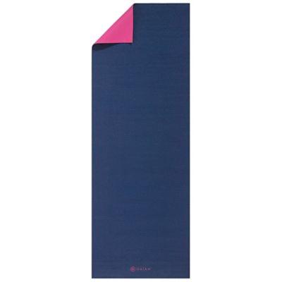 Gaiam® 3mm Reversible Navy Fleur 2-Color Yoga Mat