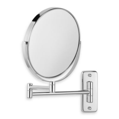 Wall-Mount 8X/1X Magnifying Swivel Mirror in Chrome
