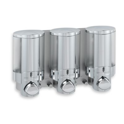 Aviva 3-Bottle Chrome Shower Dispenser