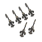 Fleur-de-lis Antique Shower Curtain Hooks (Set of 12)