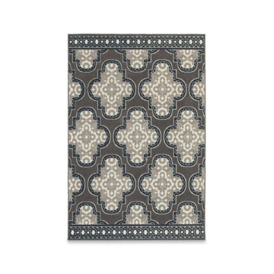 Oriental Weavers Hampton Medallion 7-Foot 10-Inch x 10-Foot 10-Inch Area Rug in Grey