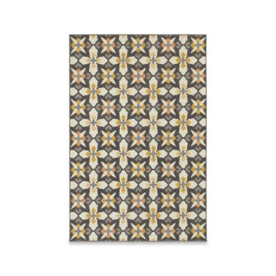 Oriental Weavers Hampton Mod Tiles 7-Foot 10-Inch x 10-Foot 10-Inch Area Rug in Grey