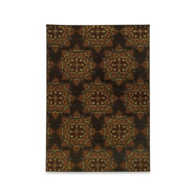 Oriental Weavers Parker Medallion 1-Foot 10-Inch x 7-Foot 6-Inch Runner in Brown Multi