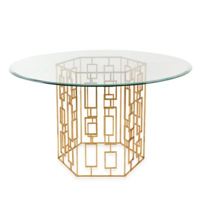 Alexandra Dining Table in Gold Leaf