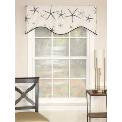 RL Fisher Sea Stars Shaped Valance in Beige