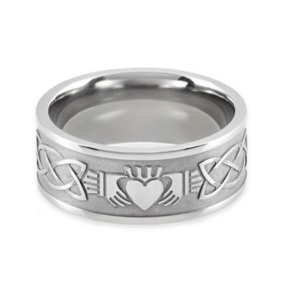 Lashbrook® Titanium Size 10 Men's Claddagh Ring