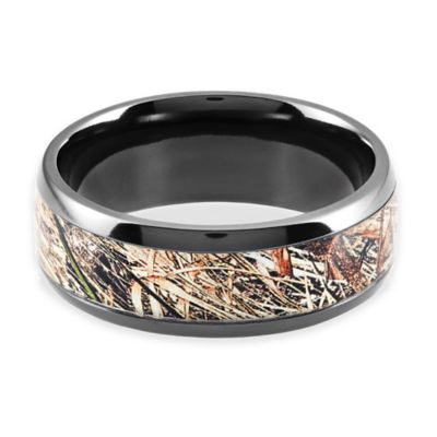 Lashbrook Black Zirconium Mossy Oak Obsession Camo Size 8 Ladies' Ring