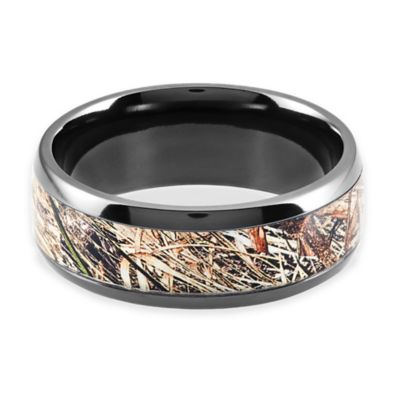 Lashbrook Black Zirconium Mossy Oak Obsession Camo Size 10.5 Men's Ring