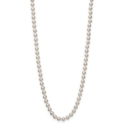 8.0-8.5mm Akoya Freshwater Cultured Pearl 16-Inch Strand Necklace with 18K White Gold Clasp