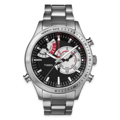 Timex® Intelligent Quartz® Men's Chrono Timer Bracelet Watch in Stainless Steel