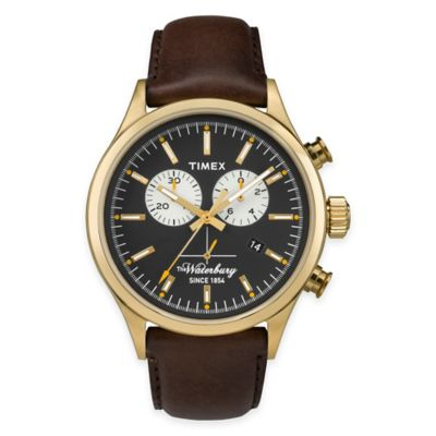 Timex® Heritage Collection Men's Waterbury Chronograph Watch in Goldtone Stainless Steel