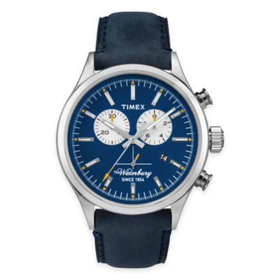 Timex® Heritage Collection Men's Waterbury Chronograph Watch in Stainless Steel