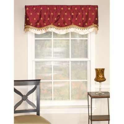 RL Fisher Bumblebee Window Valance in Wine