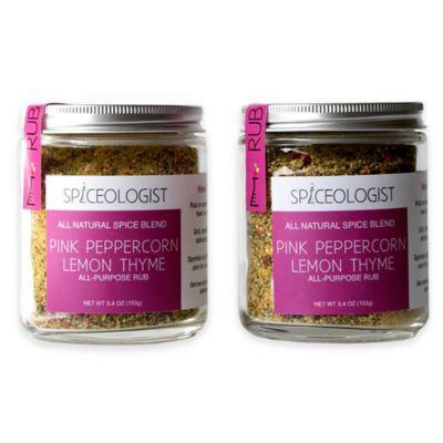 Spiceologist 2-Pack Pink Peppercorn Lemon Thyme Rub