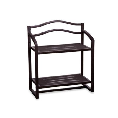 Household Essentials® 2-Tier Metal Wall Mount Storage Shelf in Chocolate Brown