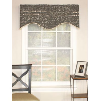 RL Fisher Alphabet Shaped Window Valance in Grey