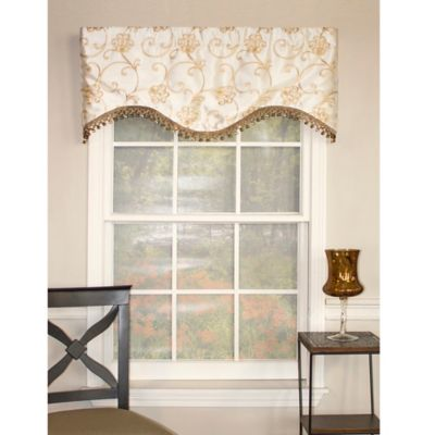 RL Fisher Florence Cornice Window Valance in Ivory