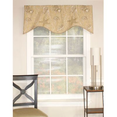 RL Fisher Seashells Shaped Window Valance in Beige