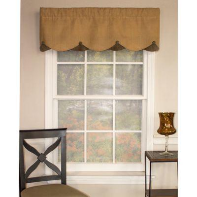 RL Fisher Burlap Petticoat Window Valance in Sand