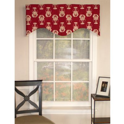 RL Fisher Lobster Cornice Window Valance in Red