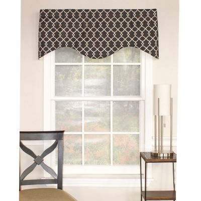RL Fisher Chippendale Cornice Window Valance in Onyx