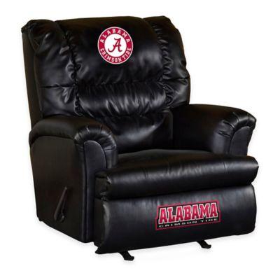University of Alabama Leather Big Daddy Recliner