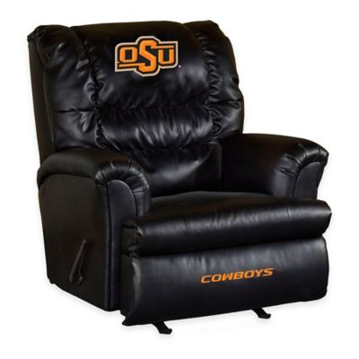 Oklahoma State University Leather Big Daddy Recliner